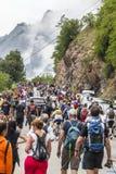 Åhörare av Le-Tour de France Arkivbild