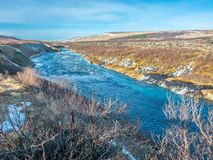 hraunfossar водопад Исландии стоковое фото rf