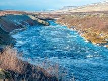 hraunfossar водопад Исландии стоковая фотография rf
