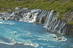 Hraunfossar Royalty Free Stock Images