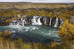 Hraunfossar  - Hvita River - Husafell - Iceland Royalty Free Stock Photos