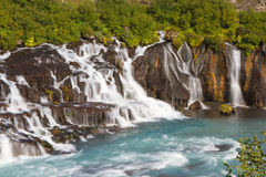 Hraunfossar, Iceland Royalty Free Stock Photography