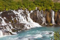Hraunfossar, Iceland Royalty Free Stock Photography