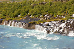 Hraunfossar, Iceland Royalty Free Stock Images