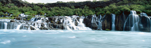 Hraunfossar waterfall Stock Photography