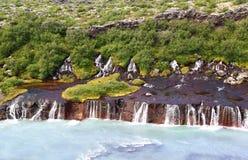 Hraunfossar Waterfall, Iceland Stock Image