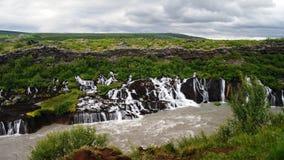 Hraunfossar waterfall, Iceland Royalty Free Stock Photography