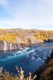 Hraunfossar waterfall, Iceland Royalty Free Stock Image