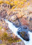 Hraunfossar waterfall, Iceland Royalty Free Stock Images