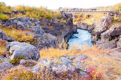 Hraunfossar waterfall, Iceland Stock Images