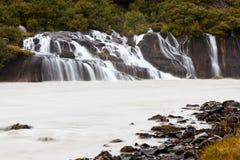 Hraunfossar waterfall, Iceland Stock Photography