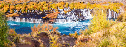 Hraunfossar waterfall, Iceland Stock Photo