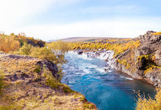 Hraunfossar waterfall, Iceland Royalty Free Stock Image