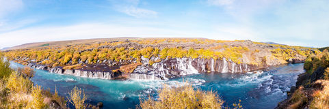 Hraunfossar waterfall, Iceland Royalty Free Stock Photos