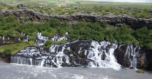 Hraunfossar waterfall Royalty Free Stock Photos