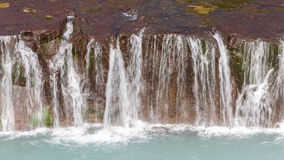 Hraunfossar waterfalls in Iceland Stock Image