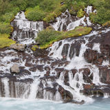 Hraunfossar waterfalls in Iceland Royalty Free Stock Images