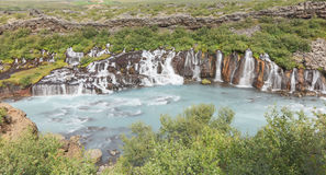 Hraunfossar waterfalls in Iceland Stock Images