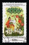 Hrda panicka, Slovak National fairytales serie, circa 1968. MOSCOW, RUSSIA - AUGUST 18, 2018: A stamp printed in Czechoslovakia shows Hrda panicka, Slovak royalty free stock photo