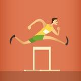 Hürden-Rennlaufender Athlet Sport Competition Lizenzfreies Stockbild