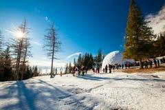 HREBIENOK,斯洛伐克- 2016年1月06日:冰圆顶的外部看法, 免版税图库摄影