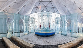HREBIENOK, SLOVAKIA - JAN 06 2016: Ice Altar in Tatras House, Hr Stock Images