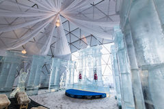 HREBIENOK, SLOVAKIA - JAN 06 2016: Ice Altar in Tatras House, Hr Royalty Free Stock Images