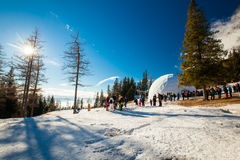 HREBIENOK, SLOVAKIA - JAN 06 2016: Outside view of the Ice Dome, Royalty Free Stock Photography