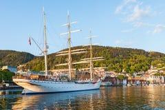 Hree被上船桅的三桅帆 图库摄影