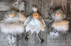 Hree Christmas angel Royalty Free Stock Image