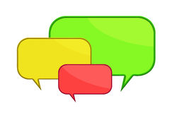 Hree color speech bubbles Royalty Free Stock Photo