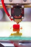 Hree dimensionale plastic printer Royalty-vrije Stock Afbeeldingen