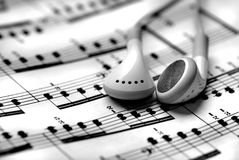 Hören Musik Stockfotografie