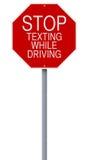 Hören Sie auf beim Fahren zu simsen Stockfotografie