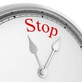 Hören Sie auf, Zeitkonzept zu vergeuden Stockbild
