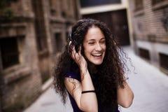 Hörende Musik Lizenzfreies Stockfoto