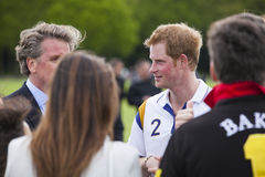 HRH Prince Harry in attendance for Polo match. Royalty Free Stock Photo
