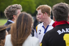 HRH Prince Harry in attendance for Polo match. Stock Photos