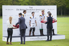 HRH Prince Harry competes in polo match. Royalty Free Stock Photography