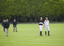 HRH Prince William and HRH Prince Harry in attendance for the polo match Stock Photography