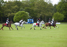 HRH Prince William and Prince Harry was competing in Polo match. Royalty Free Stock Photo