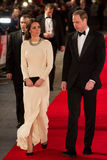 HRH Prince William and Princess Katherine. Duke and Duchess Of Cambridge arriving  for the UK Royal Performance of Mandela at the Odeon Cinema Leicester Square Royalty Free Stock Image