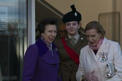 HRH Princess Anne Opens Coleraine Library images libres de droits