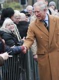 HRH que el Príncipe de Gales primero visita a Barnsley Foto de archivo