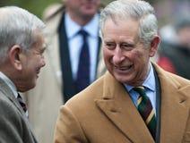HRH que le prince de Galles visitent d'abord à Barnsley Photo stock