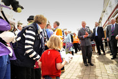HRH visited aberaeron Stock Photography