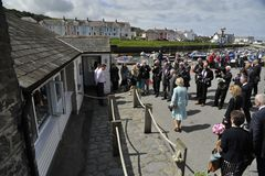 HRH visited aberaeron Royalty Free Stock Photo