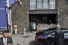 HRH visited aberaeron Royalty Free Stock Images