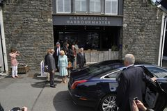 HRH visited aberaeron Royalty Free Stock Photos