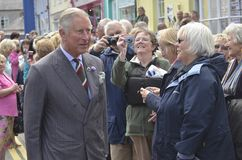 HRH visited aberaeron Stock Photos